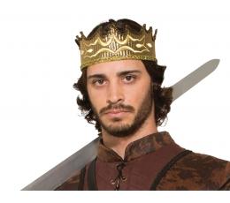 Viduramžių karaliaus karūna / auksinė (1 vnt.)