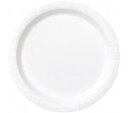 Lėkštutės, baltos (8 vnt./18 cm)