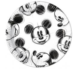 """Vienkartinės lėkštutės """"Mikis"""" (25 vnt./23 cm.)"""