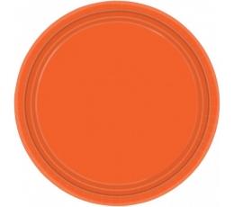 Lėkštutės, oranžinės (8 vnt./17 cm)