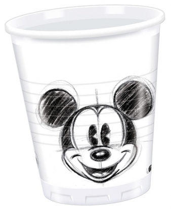 """Vienkartinės stiklinaitės """"Mikis"""" (25 vnt./200 ml.)"""