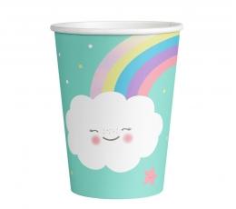 """Vienkartiniai puodeliai """"Debesėliai"""" (8vnt./250 ml.)"""