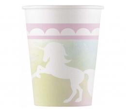 """Vienkartiniai puodeliai """"Vienaragiai"""" (8 vnt./200 ml.)"""