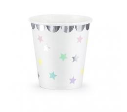 """Vienkartiniai puodeliai """"Žvaigždutės"""" (6 vnt./180 ml.)"""