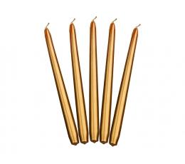 Žvakės, ilgos auksinės (10 vnt)