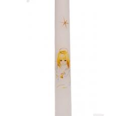 "Žvakė ""Mergaitė"", balta (38 cm.)"