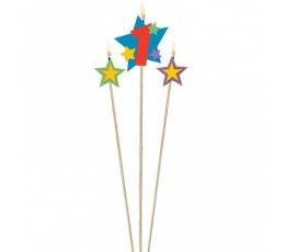 """Žvakučių rinkinys """"1-ojo gimtadienio žvaigždės"""""""