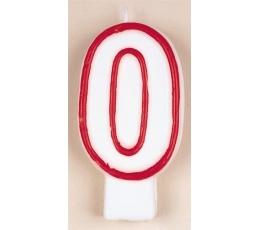 """Žvakutė """"0"""", raudona"""
