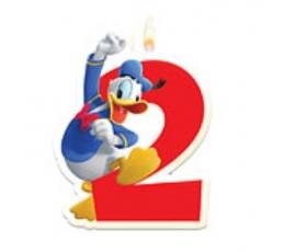 """Žvakutė """"2"""" su Ančiuku Donaldu"""