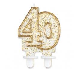 """Žvakutė """"40"""" (1 vnt.)"""