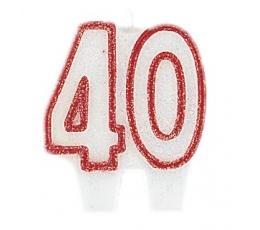 """Žvakutė """"40"""" (5,5 cm)"""