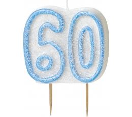 "Žvakutė ""60"" / melsva (1 vnt.)"