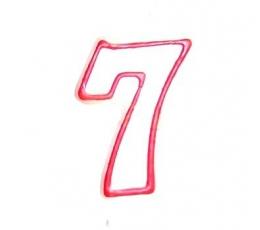 """Žvakutė """"7"""", raudona"""