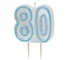 """Žvakutė """"80"""" (5,5 cm)"""
