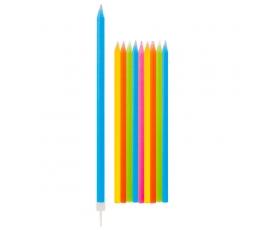 Žvakutės, ilgos spalvotos (10 vnt./15 cm)