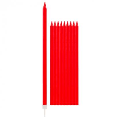 Žvakutės, raudonos ilgos (10 vnt./15 cm)