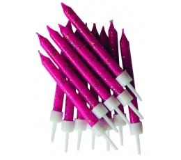Žvakutės,  ryškiai rožinės blizgios (12 vnt.)
