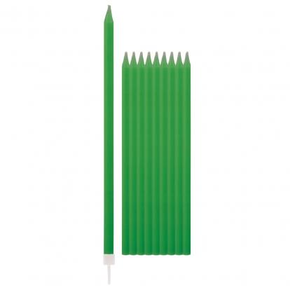 Žvakutės, žalios ilgos (10 vnt./15 cm)