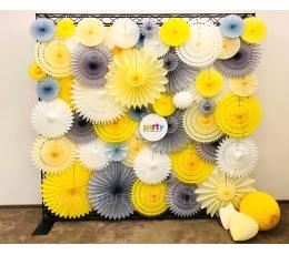 (NUOMA) Foto sienelė, pilka-balta-geltona