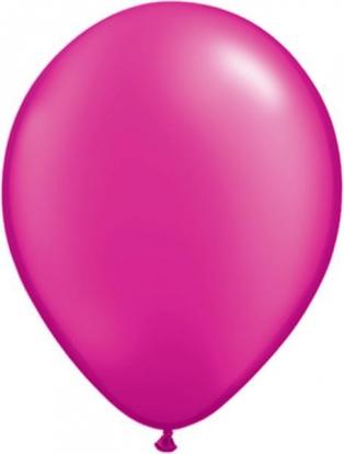 Balionai, ryškiai rožiniai perlamutriniai (100vnt./28cm.Q11)