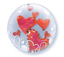 """Balionas-bablas """"Dviguba širdis"""" (61 cm)"""