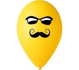 """Balionai """"Veidukas su ūsais ir akiniais"""" (50 vnt./28cm.)"""