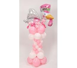 """Balionų figūra - kolona""""Gandralizdis rožinis"""""""