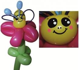 """Balionų figūra """"Bitutė"""" rožinė"""