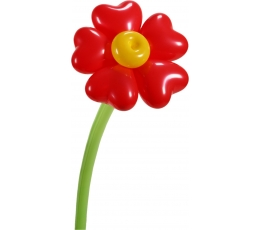 "Balionų figūra ""Meilės gėlė"""