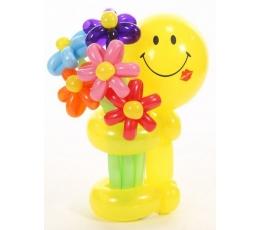 """Balionų figūra """"Šypsenėlė su gėlytėmis"""""""