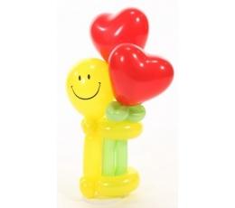 """Balionų figūra """"Šypsenėlė su širdelėmis"""""""