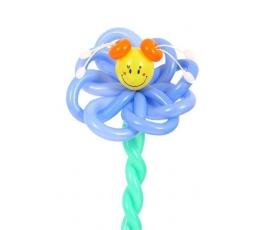 """Balionų figūra """"Gėlė linksmuolė""""žydra"""