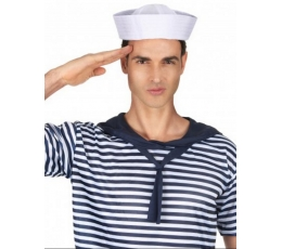 Balta jūreivio kepurė (1 vnt.)