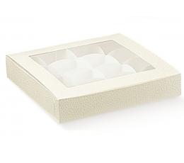 Balta - skaidri dovanų dėžutė (240x160x30 mm.)