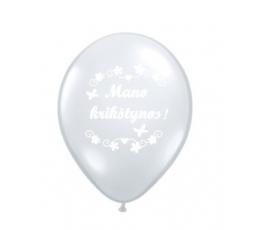 """Balti balionai """"Mano krikštynos"""" (10 vnt./28cm.)"""