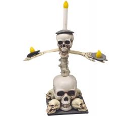 """Dekoracija """"Kaukolių žvakidė"""" (1 rinkinys)"""