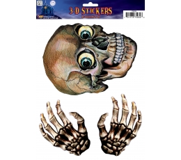 """Dekoracija - lipdukas """"3D skeletas"""" (1 vnt.)"""
