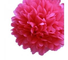 """Dekoracija """"Pūkuočiai"""" / ryškiai rožiniai (2 vnt./30 cm.)"""