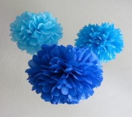 "Dekoracija ""Pūkuočiai"" / mėlyni (2 vnt./30 cm) 1"
