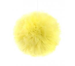 """Dekoracija """"Tiulio pūkuotis""""/ geltonas (1 vnt./25 cm.)"""