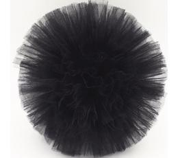 """Dekoracija """"Tiulio pūkuotis""""/ juodas (1 vnt./25 cm.)"""