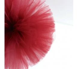 """Dekoracija """"Tiulio pūkuotis""""/ raudonas (1 vnt./25 cm.)"""