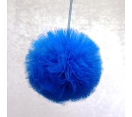 """Dekoracija """"Tiulio pūkuotis""""/ t.mėlynas (1 vnt./25 cm.)"""