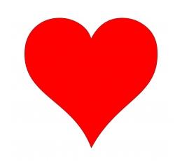"""Dekoracijos """"Širdelės"""" / L (10 vnt./17 cm.)"""