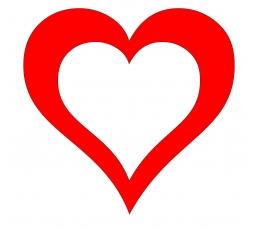"""Dekoracijos """"Širdelės"""" / LK (10 vnt./17 cm.)"""