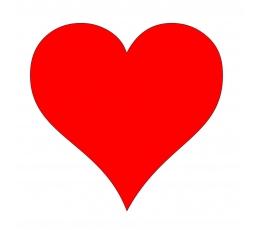"""Dekoracijos """"Širdelės"""" / M (20 vnt./13 cm.)"""