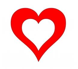"""Dekoracijos """"Širdelės"""" / SK (20 vnt./10 cm.)"""
