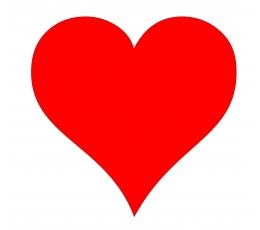 """Dekoracijos """"Širdelės"""" / XL (10 vnt./23cm.)"""