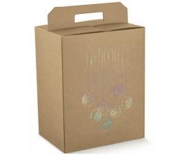 Dėžutė - Avana stačiakampė / ruda (1 vnt./ 280x200x350 mm.)