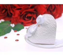 "Dėžutė ""Balta širdelė"" (10 vnt./10 x 9 x 3 cm.)"